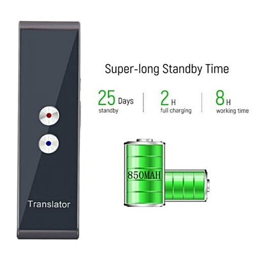 Smart Instant Voice Translator 40+ Languages T8 Real Time Multi-Languages  Speech Interactive Translation Tool Portable ASQOA
