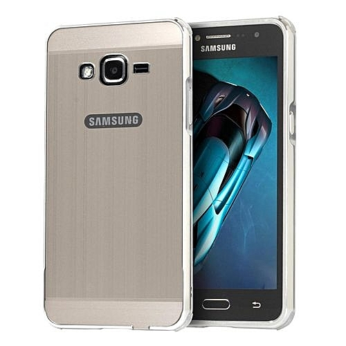 Luxury Metal Aluminum Bumper For Samsung Galaxy J2 Prime Case Detachable + Brushed PC Hard Back