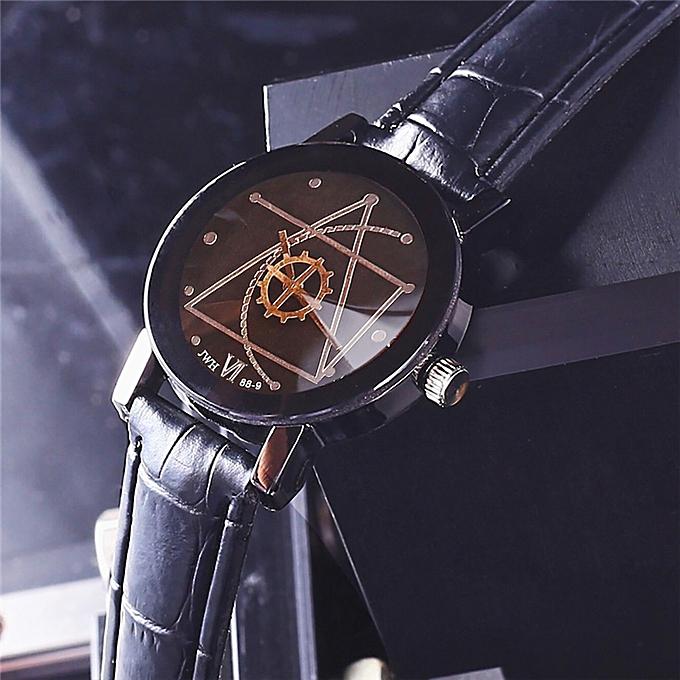 Gorgeous Man's Quartz Analog Wrist Delicate Watch Luxury Business Watches Black