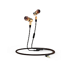 X46M Detachable HiFi Earphones With MIC - Golden