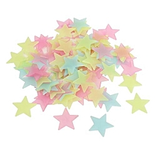 100pcs 3D Luminous Glow In The Dark Colorful Star DIY Wall Sticker  +  FREE  Moon