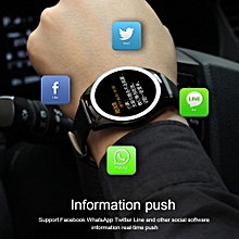 Smart Watch Wrist Bluetooth Fashion  Camera Heart Rate For iOS Android BK