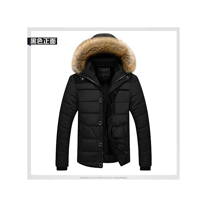 70f56275dfbd54 Black Winter Jacket Men Casual Cotton Thick Warm Coat Men's Outwear Parka  Plus Size 4XL Coats