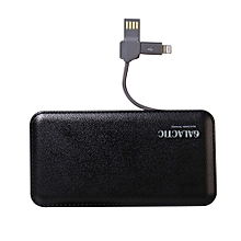 Slim 12000mAh Power Bank- Black