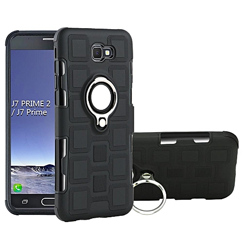 premium selection e7761 8c774 Armor Phone Case Cover With Kickstand For Samsung Galaxy J7 Prime (Black)
