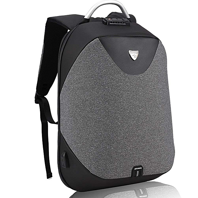5d29914f94c4 ARCTIC HUNTER Business Backpack Invisible Anti Theft Backpack Aluminum  Alloy Handle With USB Charging Port Travel