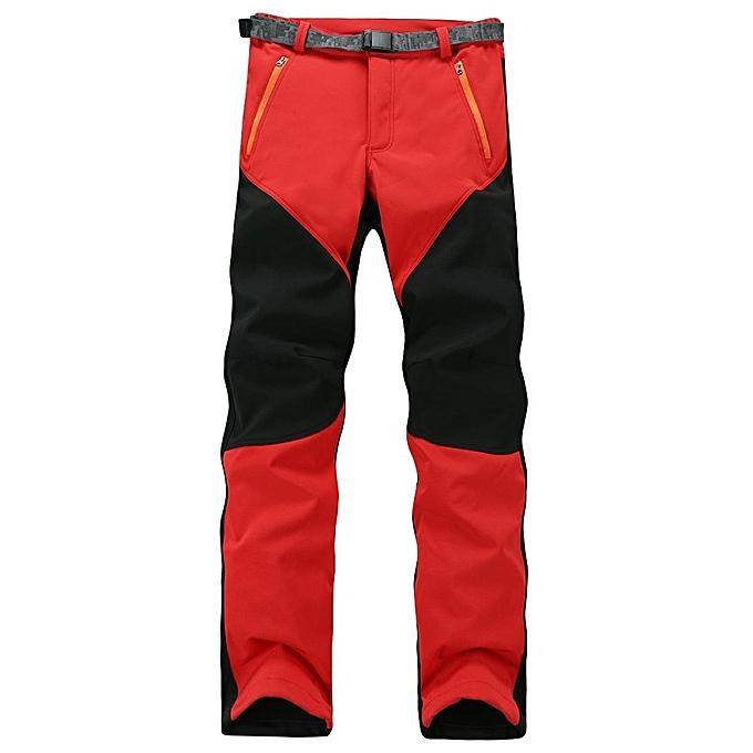 0c34e74ec9b8 Fashion Mens Outdoor Sport Pants Elastic Soft Shell Warm Fleece ...