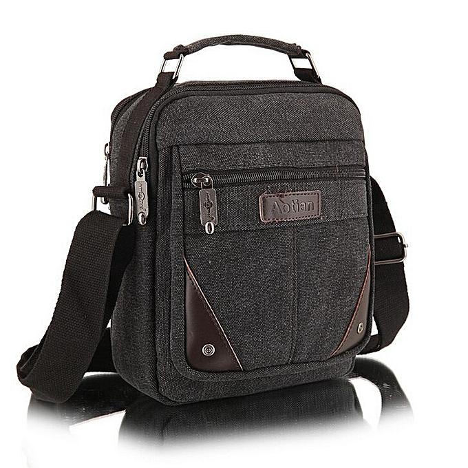 6cde80ee11f6 2019 men's travel bags cool Canvas bag fashion men messenger bags high  quality brand bolsa feminina shoulder bags M7-951(Black)