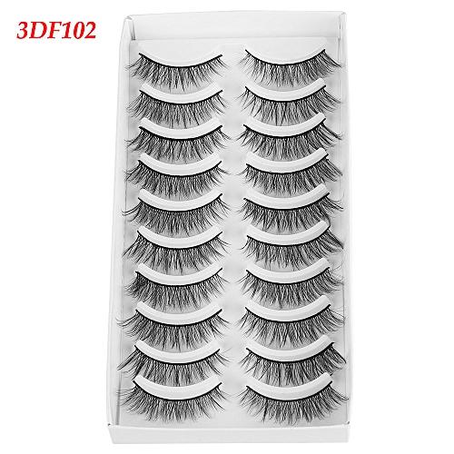 4f38b5da384 Generic NEW 10 pairs Mink Eyelashes 3D Natural False Eyelashes 3d Mink  Lashes Soft EyeExtension Makeup Kit Cilios 100% Wi(3)