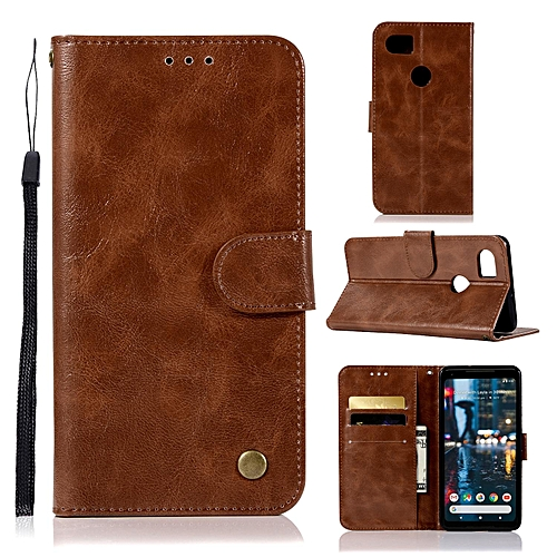 the best attitude 63014 03832 Casing For Google Pixel 2 Xl,Reto Leather Wallet Case Magnetic Double Card  Holder Flip Cover