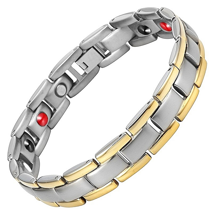 New Magnetic Health Bracelets Bangles Men Stainless Steel Fashion Germanium
