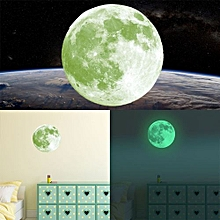 30cm Multicolor Large Moon Luminous Wall Sticker Home Decoration Decor