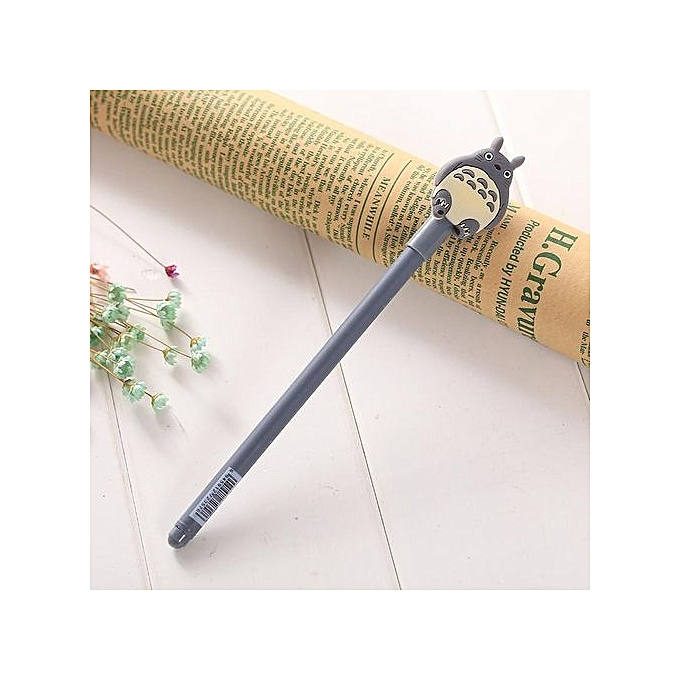 Ballpoint Pen Totoro Pen Lovely Animal Styles Black Writing Craft Pens  0 38mm School Supplies Office Stationery