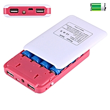 Portable High-efficiency 4 x 18650 Batteries Plastic Power Bank Shell Box with Dual USB Output & Heat Dissipation Hole, For iPhone, iPad, Samsung, LG, Sony Ericsson, MP4, PSP, Camera, Batteries Not Included(Random Color Delivery)