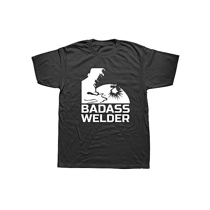 Generic Summer T Shirt Badass Welder T Shirt Man Short Sleeved
