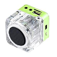 Mini Speaker LCD HiFi Music MP3/4 Player TF Card USB Disk FM Radio
