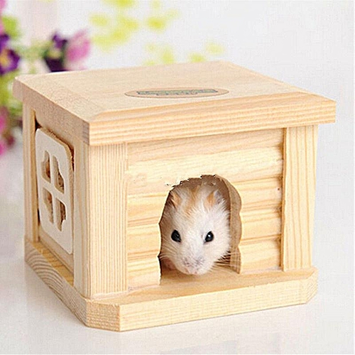 Peachy Toy Wooden Hamster House Bedroom Dwarf Cage Rat Mouse Gerbil Exercise Natural Interior Design Ideas Oteneahmetsinanyavuzinfo