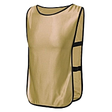SPORTS Soccer Football Basketball TRAINING Bibs Vest Netball Hockey Adult Yellow NEW