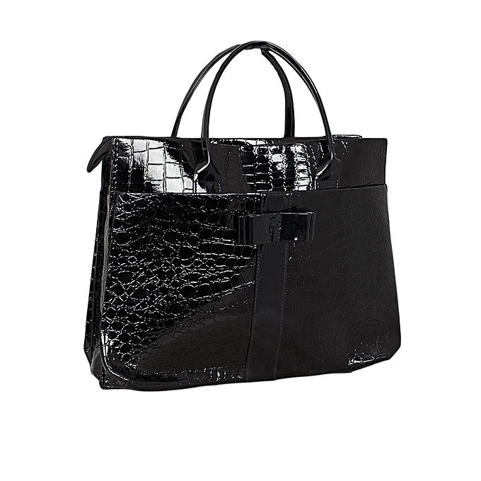 1f24df5206 TIMELINE FASHION DESIGNS Black Snake-Embossed Women Tote Bag   Best ...