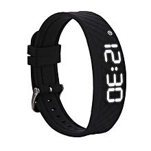 Smart Bracelet Fitness Tracker with Sports Monitoring, Vibration Alarm Clock Reminder, 48 Days Standby - Black