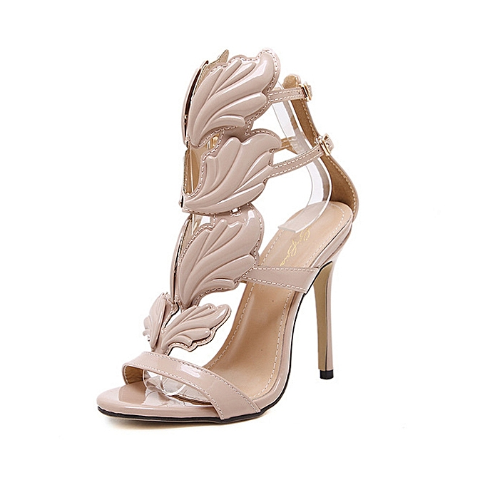 a5d9b6444bc Fashion Women Pumps Leaf Flame High Heel Shoes Sexy Peep Toe High Heels  Sandals