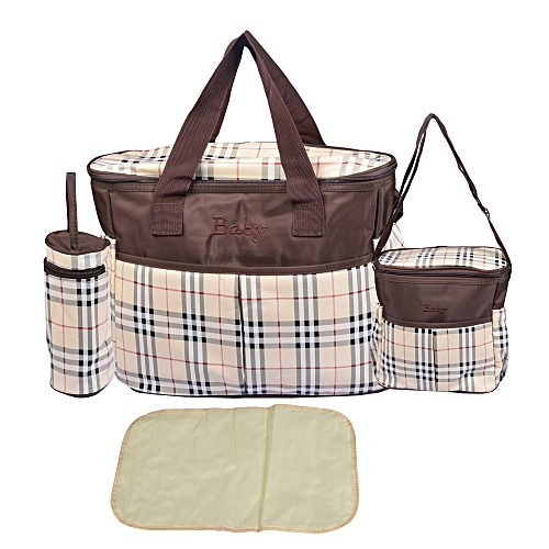 529399e5918 Generic 4 Piece Multifunctional Diaper Bag - Brown   Best Price ...