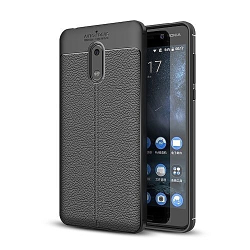 Shock Proof Carbon Fiber Rugged Armor Soft Back Case For Nokia 6