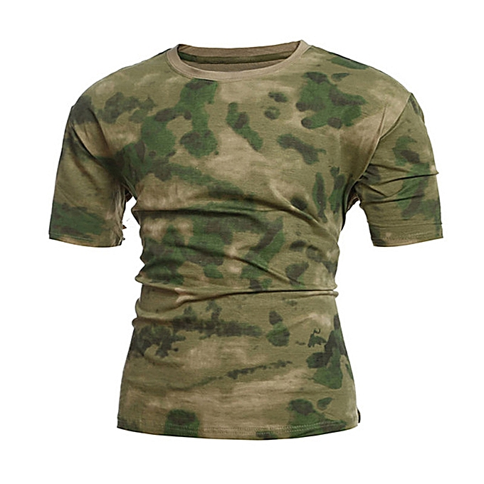 Men Army Combat T-Shirt - Camouflage