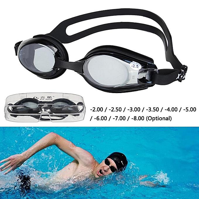 ebf0b1721e ... UV Prescription Nearsighted Adult Junior Kids Adjustable Swimming  Goggles Box