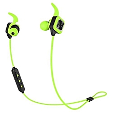 Handfree headsets, KS Plus Bluetooth Earphone Wireless Sports Headphones Bass Stereo Earbuds With Ear Hook Mic Voice Prompt Handsfree Noise Reduction Sweatproof for Phone(Green)
