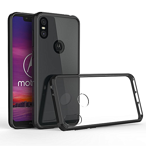 size 40 51c5a 84e4d For Motorola Moto One Power Transparent Silicone Phone Case Anti-drop  Silicone Case Acrylic Frame + Silicone Transparent Back Cover + Transparent  Air ...