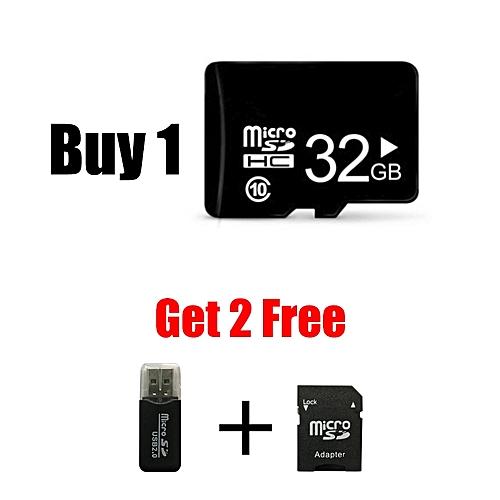 32GB High Speed 10 Micro SD(TF) Memory Card - black