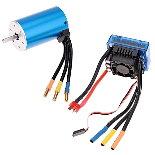 3660 2600kv 4p Sensorless Brushless Motor With 80a Brushless Electronic  Speed Controller For 1/10 Rc Car Truck