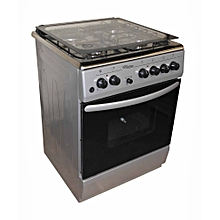 SGC6470MS-Electric Cooker 60X60 with 3 Gas Burners + 1 Hot Plate-Stainless steel With Tempered Glass-TOP-GREY-INOX