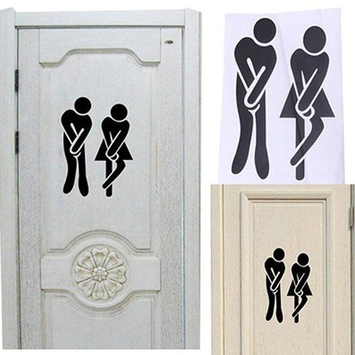 Bluelans Cute Toilet Wc Bathroom Door Sticker Diy Home Decor Black Buy Online Jumia Kenya