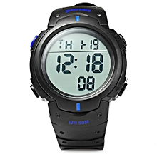 Multifunctional LED Military Watch Alarm Stopwatch-BLUE