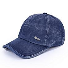 Unisex Washed Cotton Blend Golf Hip-hop Cap Sports Adjustable Outdoor Snapback Hat