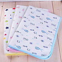 Baby Nappy Changing Pad Cotton Diaper Changing Table Baby Waterproof Mattress Bed Infant Change Mat Cover - 70x105cm - yellow