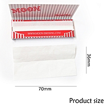 Boxes of 50 Booklets Moon Red Cigarette Tobacco Smoking Rolling Papers 70mm 2500 Leaves