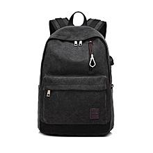 singedanStudent Boy Laptop Backpack School Bag School Backpack Men Woman Travel Bag BK -Black