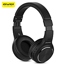 AWEI A600BL Wireless Bluetooth Over-ear Headphones Stereo Sound Noise Canceling with MIC-BLACK