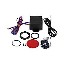 [Buy 1 Get 1 Free Gift]Universal Auto Car Keyless Entry System LED Illumination Engine Ignition Push Start Button Starter Kit Blue LED
