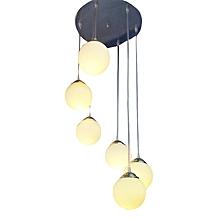 Contemporary 6 pendant staircase light fixture