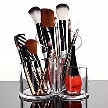 1Pcs Acrylic Clear Cylindrical Holder Brush Makeup Cosmetic Organizer Storage