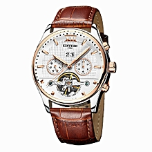 Business Watch 3ATM Water-resistant Automatic Mechanical Men Watches Luminous  Leather Wristwatch Male Relogio Musculino