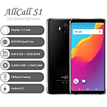 "AllCall S1 3G 5.5"" 2GB RAM + 16GB ROM Android 8.1 5000mAh battery - Black"
