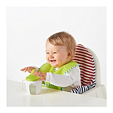 Baby Cup - Beaker - White & Green