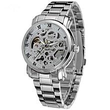 Silver Automatic Self-wind Mens' Wrist Watch