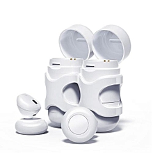 Wireless Earbuds, Bluetooth Headphones In-Ear Headset Stereo Noise Cancelling Sweatproof Earphone With Mic and Dual charging Box - White