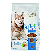 Premium Adult Dog Food Fish & Rice - 3kg